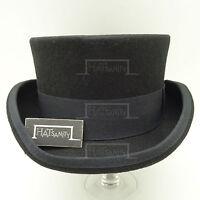 Wool Felt Topper Top Hat Men Tuxedo Short | 61cm | Black | CLASSIC x FORMAL