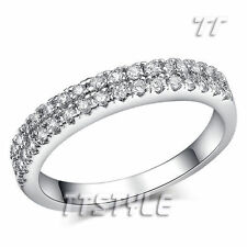 White Gold Plated Cubic Zirconia Band Fashion Rings