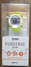 EPSON RUNSENSE SF-110 GPS AND ACTIVITY MONITOR WATCH - GREEN - BRAND NEW