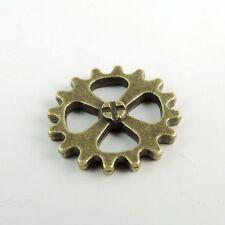 38693 Antique Bronze Vintage Alloy Round Wheel Gear Pendant Charms 14*14mm 70PCS