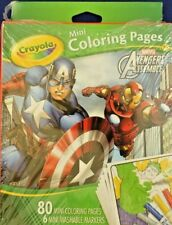 CR Crayola Mini Coloring Pages,  Marvel Avengers Assemble Ironman Hulk Captain