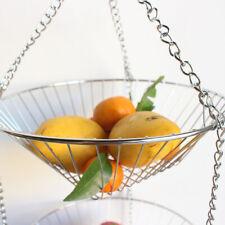 Storage Flower Holder Modern Hanging Wire Home 3 Tier Candy Kitchen Fruit Basket