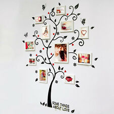 Vintage Tree Photo Frame Wall Stickers Poster Wall Art Living Room Decal Decor