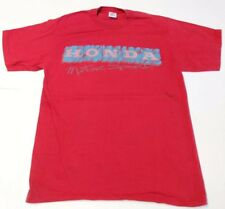 Vintage Honda Motor Sports Racing Jerzees Made in USA Red T-Shirt L