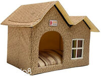 4 Color Pet Product Indoor Outdoor Pet Dog House Cage Bed Kennel Puppy Cat Cabin