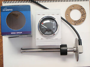 "FUEL TANK GAUGE METER AND SENDER 10-1//2/"" STAINLESS WEMA KUS UPFR-WW WHITE"