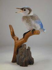 Baby Blue Jay Original Wood Carving