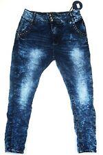 Damen Young Fashion 3/4 Jeans Boyfriend Baggy Haremshose Gr. 34-42 - NEU -