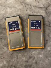 2x Sony SxS 64gb SBS64G1B