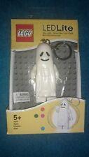 LEGO GHOST MINIFIGURE KEYCHAIN WITH LED LIGHT NEW Key Light Halloween Spook