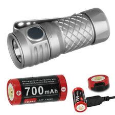 KLARUS Mi1C Ti CREE XP-L V3 LED Flashlight Adjustable Torch + Battery 600 Lumens