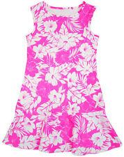 Robes roses en polyester sans manches pour fille de 2 à 16 ans