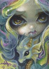 Baby Pastel Dragon ACEO Jasmine Becket-Griffith big eyes art fairy Strangeling