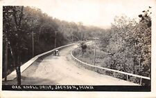 Jackson Mn Horse & Buggy on Dirt Oak Knoll Drive to the Railroad Depot Rppc 1910
