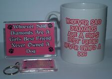 Diamonds Are A Girls Best Friend Labradoodle - Mug Magnet Keyring Gift Set