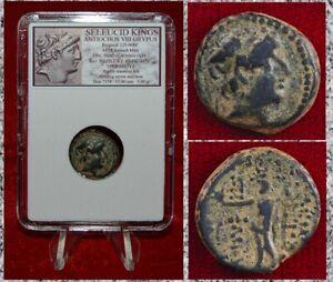 Ancient GREEK Coin Seleucid King ANTIOCHOS VIII Artemis Beautiful Desert Patina!