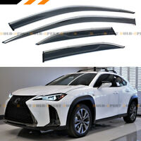 FOR 2019-2020 LEXUS UX200 UX250H VIPCLIP ON CHROME TRIM WINDOW VISOR RAIN GUARD