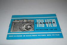 Vintage Tru-View Camera Instructions for Use Manual