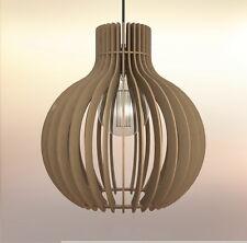 Lampadario rustico moderno in legno Design Bulbo Lampada Sospensione Soffitto