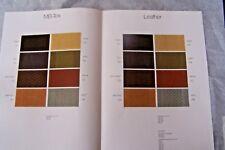 Mercedes Owners interior Color Chart w107 w123 sales brochure 380sl  300cd w126