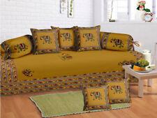 Home Decorative 100% Cotton Mandala Printed Bedding Diwan Set Bedspread, 6 Pcs