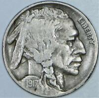 1917-D Buffalo Nickel; Choice Original VF