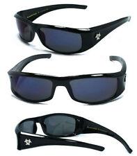 BioHazard Mens Riding Biker Sunglasses UV400 - BZ1 Blue Smoke Lens
