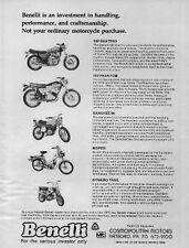 1975 BENELLI Ad Features Banshee 90  Dynamo Trail 500 Quattro 250 Phantom Moped