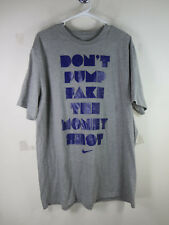 Nike men gray purple DONT PUMP FAKE THE MONEY SHOT basketball tee shirt XXL VGUC