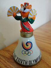 Vintage 1988 Seoul Korea Olympics Hodori Tiger Mascot Metal Enamel Bell SLOOC