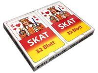 2x32 Klassisches Blatt Skat Spielkarten | Skatspiel | Poker Mau Mau Kartenspiel