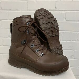 HAIX BROWN LEATHER HIGH LIABILITY COMBAT BOOTS - Size: 9 Medium , British Army