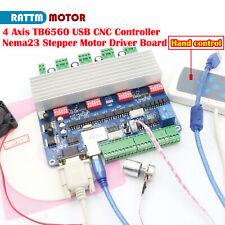 4 Axis Usb Cnc Controller Tb6560 Nema23 Stepper Motor Driver Boardhand Control