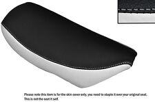 WHITE & BLACK CUSTOM FITS SUZUKI TR 50 STRET MAGIC LEATHER SEAT COVER