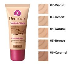 DERMACOL TONING CREAM 2 IN 1 MOISTURIZING CREAM AND FOUNDATION IN ONE 30ML