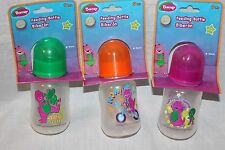 NEW BARNEY LOT OF 3 BABY BOTTLES 4 OZ FROM 2010