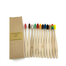 12 pcs  Organic Bamboo Toothbrush Soft Pack Natural Eco Toothbrushes