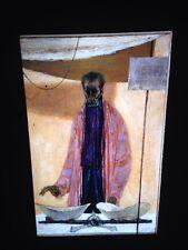 """Joseph Hirsch """"Man With Scales"""" Modern Art 35mm Glass Slide"""