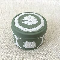 Wedgwood Jasperware Green Sage Trinket Box Neoclassical English China