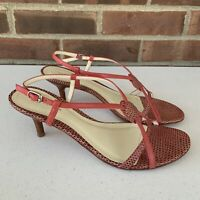 Ann Taylor kitten heel slingback strap sandals Women's Size US 7.5 M Leather