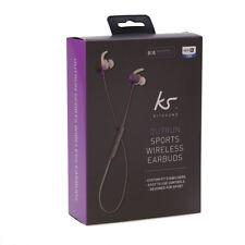 Kitsound Outrun Sports Wireless Bluetooth Earbuds Purple Inear Earphones