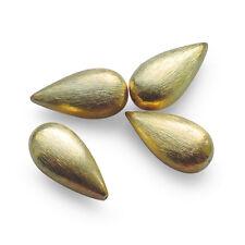Perle gold Tropfen 925 Sterlingsilber vergoldet gebürstet 26 mm Ohrringe Kette