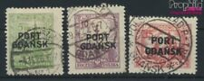 polonaise Post Gdansk 12-14 oblitéré 1926 émision de surcharge (9108979