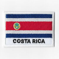Costa Rica National Flag Iron on Patches Embroidered Applique Badge Emblem