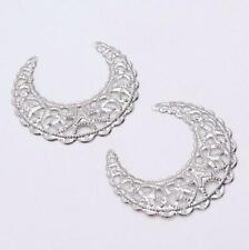 10pcs Filigree moon Wraps Connectors Metal Crafts Decoration DIY Jewelry Making