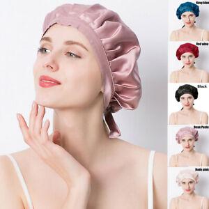 100% Mulberry Silk Sleeping Bonnet Natural Silk Night Cap Women Hair Care Hat