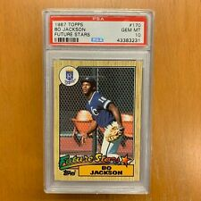 1987 TOPPS Bo Jackson #170 Future Stars Kansas City Royals Rookie PSA 10