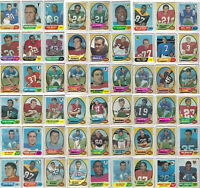 1970-71 Topps Football Cards - 54 +46 =100 Card Lot
