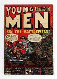 YOUNG MEN #14  VG/FN - RARE ATLAS WAR COMIC - GREAT COVER - 1952