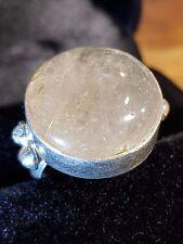 rutilated quartz gemstone 925 sterling silver ring size 9.5